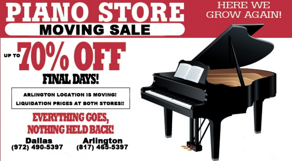 Piano Gallery Movng Sale