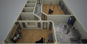 DFW Piano Studios Floor Plan 3d-2