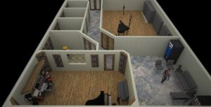 DFW Piano Studios Floor Plan 3d 2Large